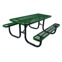 SuperSaver™ Commercial Rectangular Wheelchair Accessible Picnic Table - 2 Chair