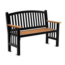 Aurora Bench Arched Back