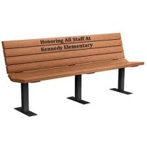 Champion Memorial Benches - Wood Grain Naturals