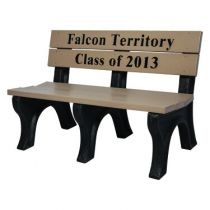 Memorial Classic Inlay Engraved Benches