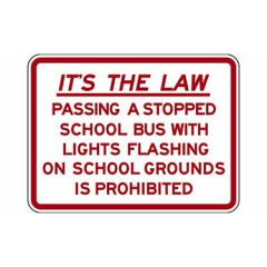 It's The Law Passing A Stopped School Bus With Lights Flashing