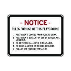 Notice Rules For Use Of This Playground