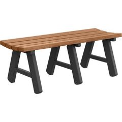 A-Frame Backless Bench – Wood Grain Naturals