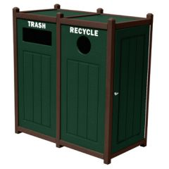 Double Side-Load Recycling Container with Side Access Doors