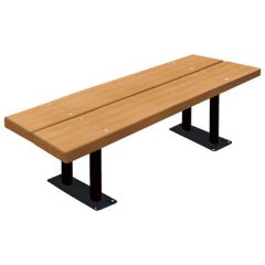 Providence Steel-Frame Double-Board Backless Benches
